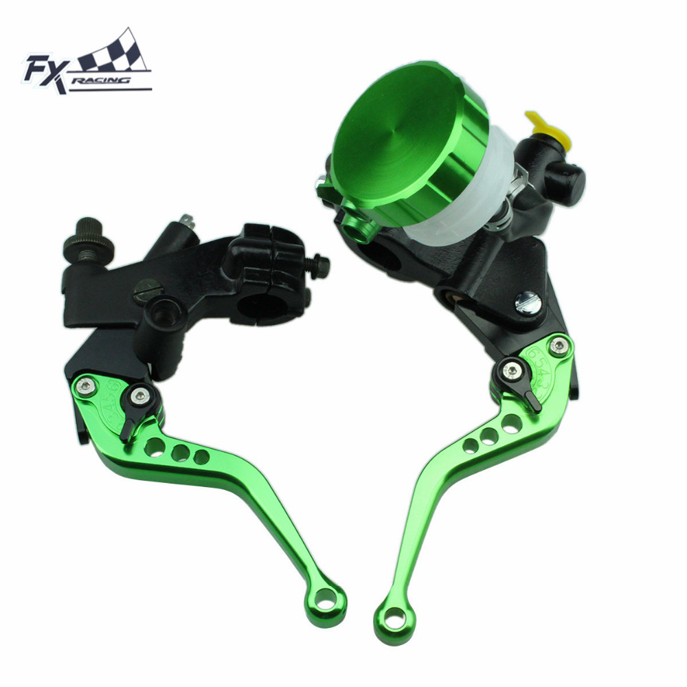 цена на 7/8 For Yamaha YZ125 YZ250 YZ500 1991 - 1995 Motorcycle Master Cylinder Reservoir Brake Clutch Lever Hydraulic Brake Lever
