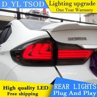 D_YL Car Styling Accessories for honda city rear Lights 2015 led TailLight honda city Rear Lamp DRL+Brake+Park+Signal lights led