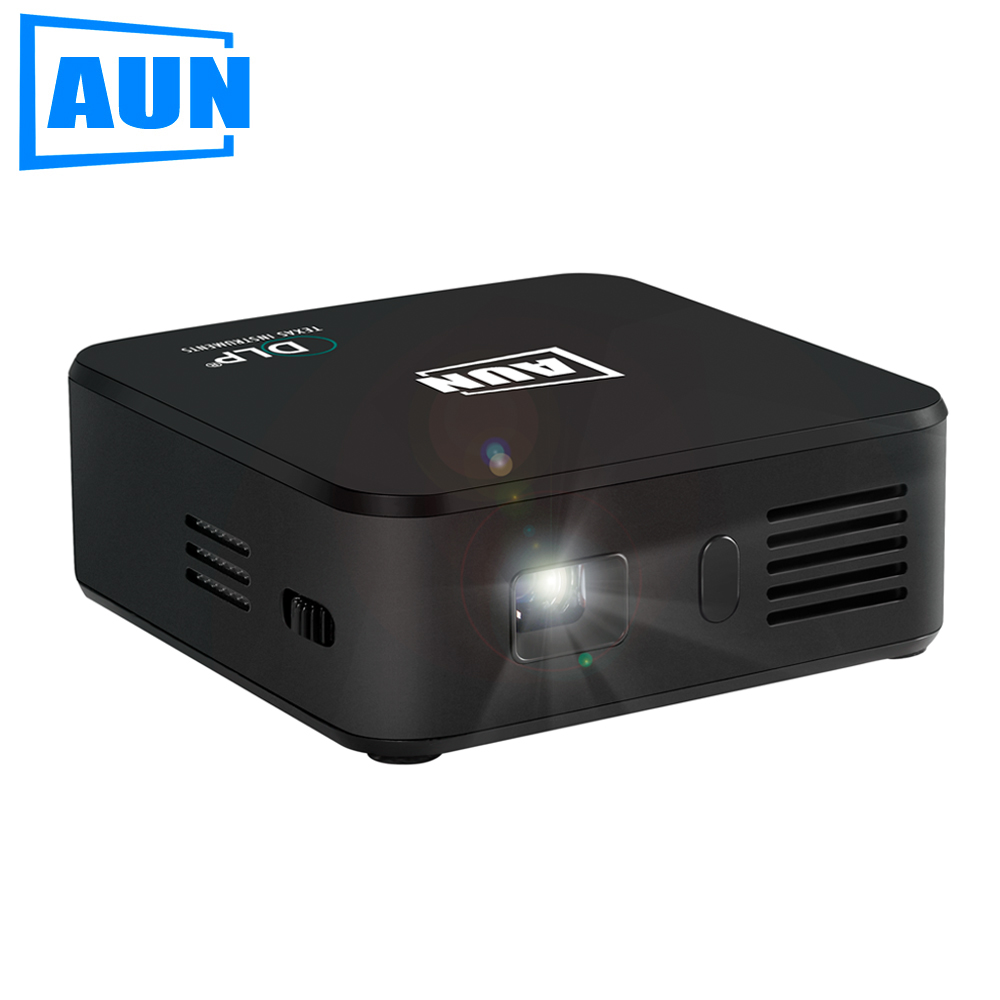 Aun projector am1sp built in 2500mah battery android 4 4 for Best android mini projector