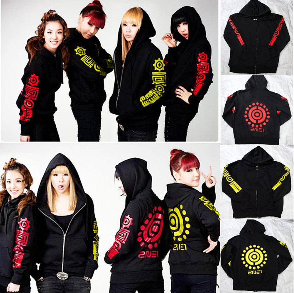 K-pop Around 2NE1, Darla Park, same Sweatshirts, hoodie, big size loose jacket, cap coat, street coat spring autimn winter