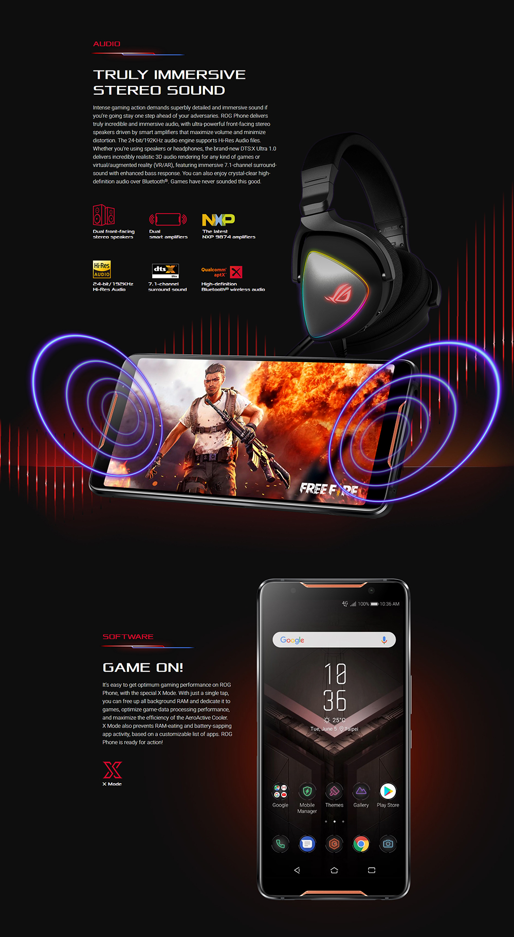 "ASUS ROG Telephone ZS600KL 8GB RAM 128GB ROM Gaming Phone Snapdragon 845 2.96GHz 6.0""18:9 AMOLED Screen Android8.1 4000mAh OTA 53"