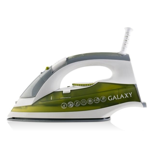 Утюг Galaxy GL 6109 (Мощность 2200 Вт, резервуар для воды 300 мл, вертикальное отпаривание, паровой удар, разбрызгивание воды, противокапельная система, система самоочистки, защита от накипи, сетевой шнур 2 м)