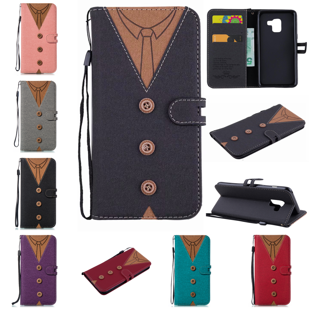 Cellphone Cell shell Cover For Samsung Sumsung J7 J6 J4 <font><b>J3</b></font> 2018 J5 <font><b>J3</b></font> 2017 <font><b>2016</b></font> Deluxe Leaf Clasp PU Leather Flip Phone Wallet image