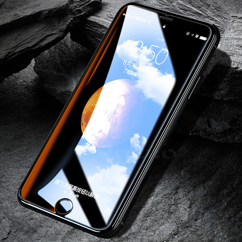 Galleria fotografica VOERO 9H Hardness Screen Protector Tempered Glass For iPhone 8 7 Plus 5 5s Screen Protector Film For iPhone 6 6S Plus Glass
