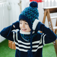 Baby Hat Scarf Gloves Three Sets Of Boys Autumn And Winter Children New Hat Warm Suit