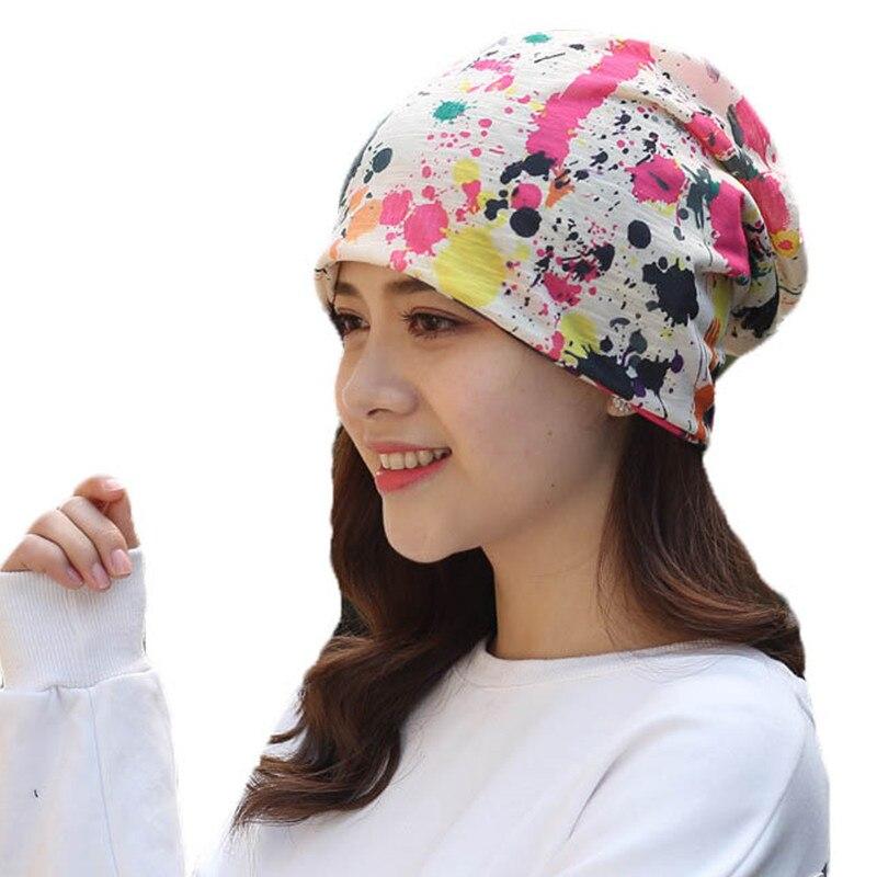 950da50c440 Cartoon Print Autumn Winter Hats For Women Men Hip Hop Beanies Skullies  Unisex Men Cap Spring Warm Ladies Thin Knitted Hat Girl