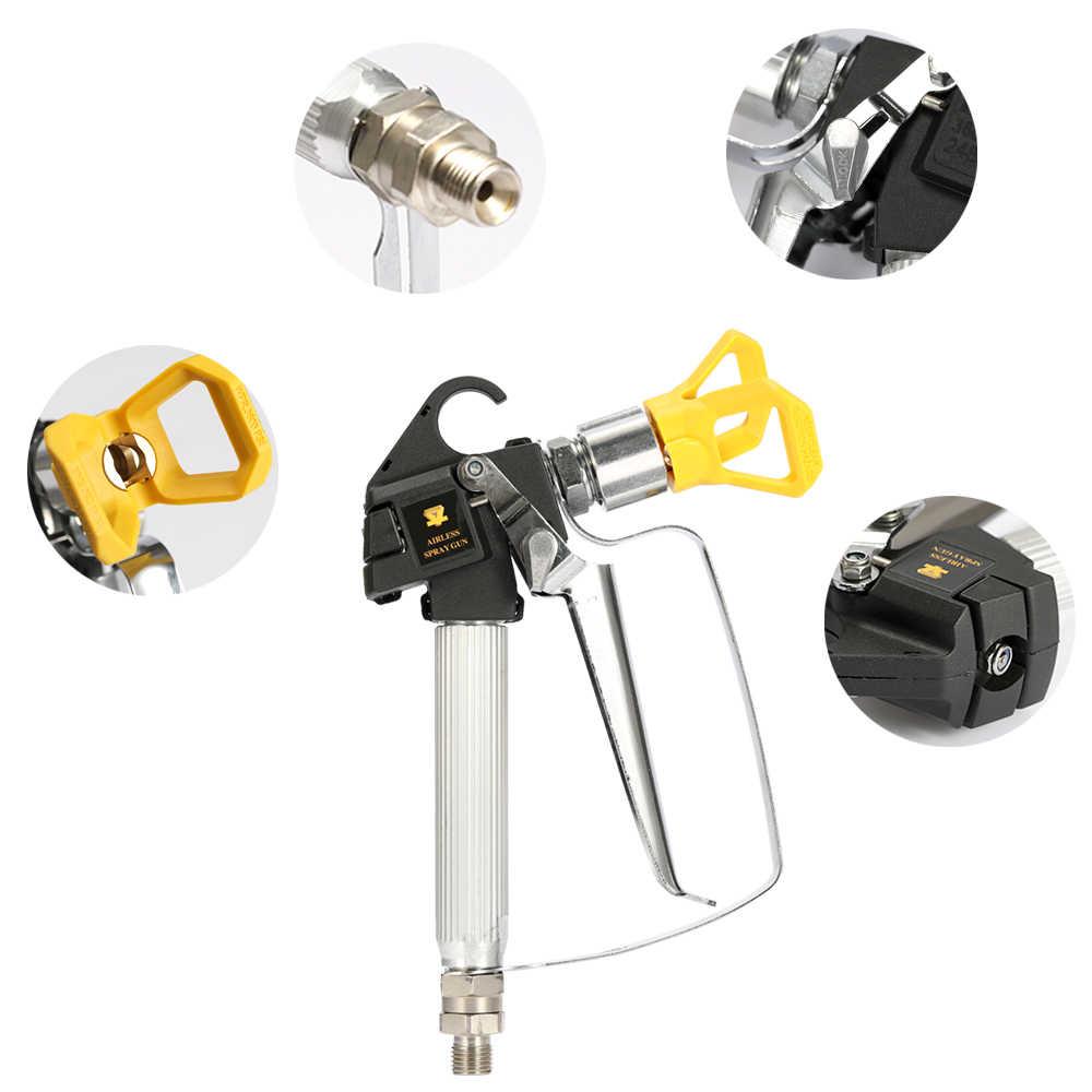 Yüksek kaliteli 3600PSI yüksek basınçlı havasız boya püskürtme tabancası havasız püskürtme makinesi ile meme koruyucu pompa püskürtücü