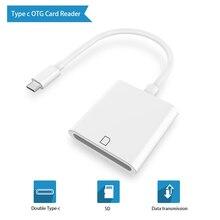 Mini USB 3.1 USB C SD SDXC Kart dijital kamera Okuyucu Adaptörü Tip C macbook için kablo Cep Akıllı Telefon Samsung Huawei Xiaomi