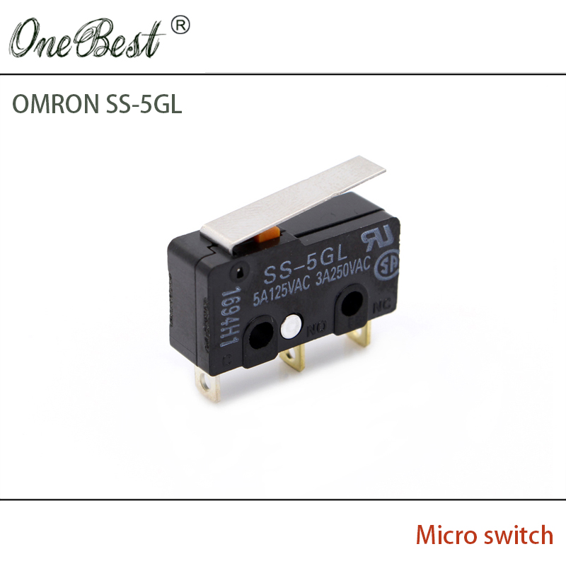 3D printer accessories limit switch ENDSTOP RAMPS 1.4 OMRON SS - 5GL(Indonesia) Original micro switch free shipping for endstop mechanical limit switches 3d printer switch with cable for ramps 1 4 cnc 3d printer accessories