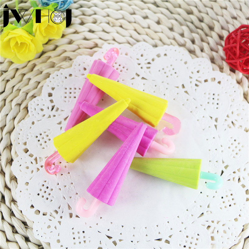 2pcs/lot  Creative Cartoon Umbrella Shape Eraser Kawaii Stationery Office School Correction Supplies Papelaria Child's Toy Gift