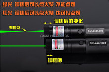 NEW Powerful Military 100000mw/100w 532nm high power SD Laser 303 green laser pointers adjustable burning match,burn cigarettes