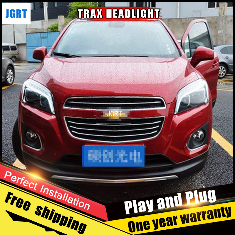 Car Style LED headlights for Chevrolet Trax 2013-2016 for Trax head lamp LED Lens Double Beam H7 HID Xenon bi xenon lens car styling for chevrolet trax led headlights for trax head lamp angel eye led front light bi xenon lens xenon hid kit