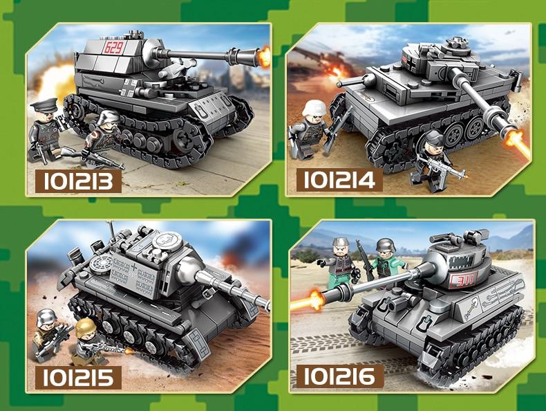 239PCS LEGO WW2 Germany Tank Army Toy Blocks Military Vehicles Kids ToyS