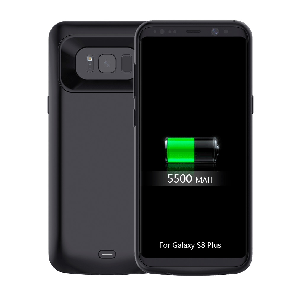 5500mAh Battery Charging Case for Samsung Galaxy S8 Plus Portable Power Charging Case Wireless Battery Case for Samsung S8 PLUS