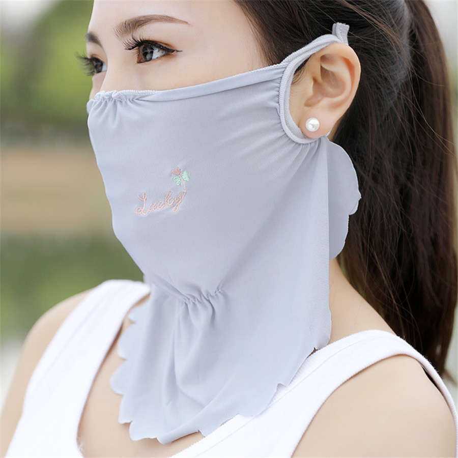 1pcs Rayon Dustproof Mouth Face Mask Breathable Hygroscopic Fashion Cycling Mouth Mask For Women Maske Sunscreen Half Face Mask