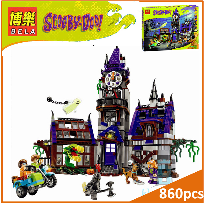BELA Buidling Blocks 10432 Scooby Doo  Mystery Mansion 75904 Model Compatible LEPIN Bricks Figure Toy For Children 860 PCS