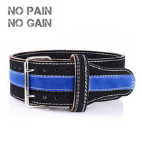 NO PAIN NO GAIN Weightlifting Belt Five Cowhide Leather Protection Gym Fitness Training Powerlifting Weight High