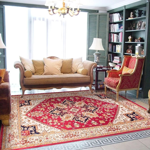 retro living room coffee table pictures of white rooms big size persian carpet 3mm thinner style home decoration easy care