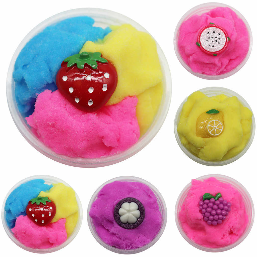 60ml Beautiful Fruits Cloud Slime Putty Scented Stress Kids Clay Toy