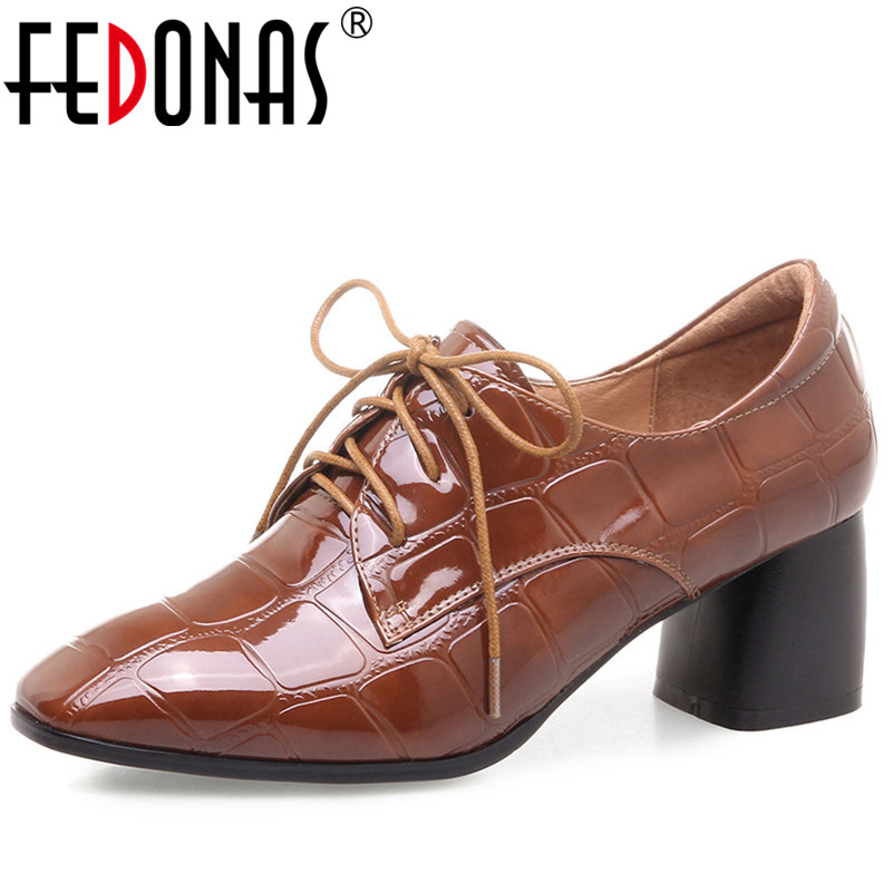 FEDONAS Women Pumps Fashion Sexy Pointed Toe Lace Up High Heel Women Shoes Woman Retro Euro Style Pumps Female Autumn New Shoes women pumps sexy open toe lace fashion pointed toe high heels new style shallow classic spring autumn single shoes ladies
