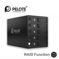 Aluminum 5 Bay Type C Hard Drive Dock Support 50TB storage USB3.1 SATA 3.5 inch HDD enclosure with raid function