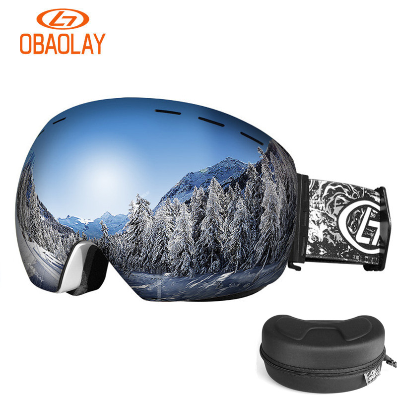 34d999ede9ee Detail Feedback Questions about Winter Ski Goggle Men Women Snow Goggle  Double Layer Lens UV Large Sphere View Snowboard Skiing Snow Eyewear With  Glasses ...