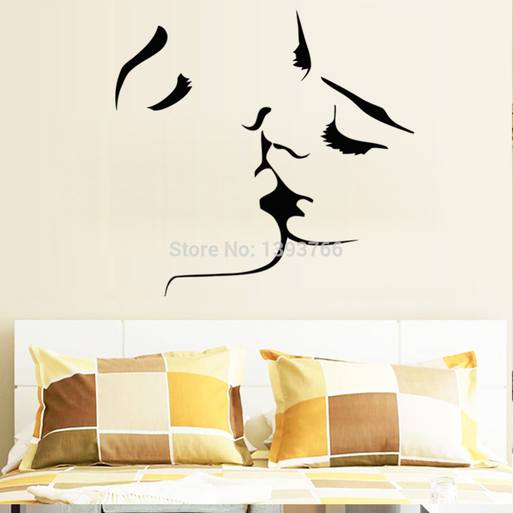 Best Selling Kiss wall stickers home decor 8468 wedding