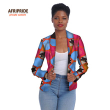 2017african women clothes fashion jacket long sleeve coat new cotton batik fabrics top suit for young ladys and girlsA722405
