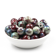 JHNBY 100pcs Fambe blaze ceramic beads 6/8/10/12MM Round Chinese Porcelain Loose for Jewelry bracelets making DIY Finding