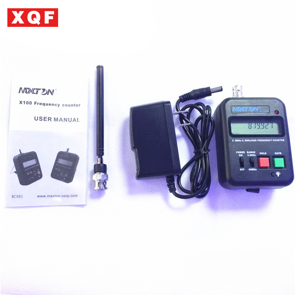 XQF Walkie Talkie Frequency Counter 0.3MHz-2.8GHz for Two Way Radio Wireless Electronic Equipment MAXTON X100 HandheldXQF Walkie Talkie Frequency Counter 0.3MHz-2.8GHz for Two Way Radio Wireless Electronic Equipment MAXTON X100 Handheld