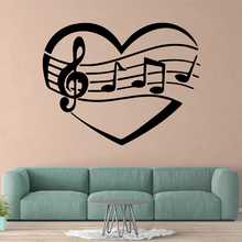 Creative music Wall Art Decal Decoration Fashion Sticker Kids Room Nature Decor Removable Mural