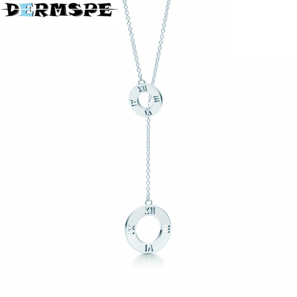 DERMSPE Fashion And Simplicity Laria Pendant Necklace TIFF 925 Sterling Silver Nature Fashion Jewelry цены