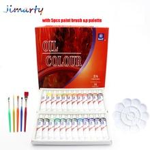 Professional Brand Tube Oil Paints art for artists Canvas Pigment Art Supplies Drawing 12ML 24Colors paint brush&palette Set