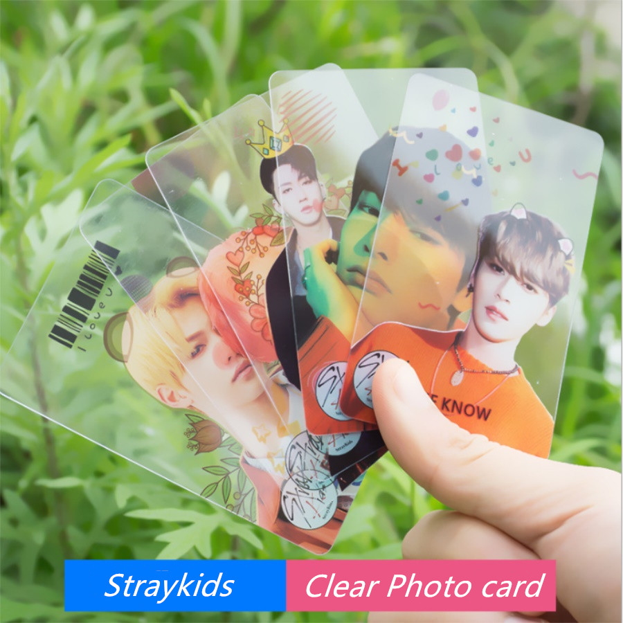 Kpop Blackpink Straykids PVC Clear Photo Card Twice Collective Cards Photocard 10pcs