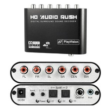 5.1 Audio Rush Digital Sound Decoder Converter – Optical SPDIF/ Coaxial Dolby AC3 DTS stereo(R/L) to 5.1CH Analog Audio