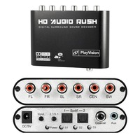 5.1 Audio Rush Digital Sound Decoder Converter Optical SPDIF/ Coaxial Dolby AC3 DTS stereo(R/L) to 5.1CH Analog Audio