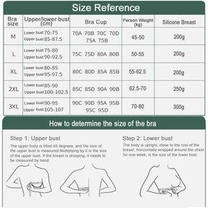 Image 5 - シリコーンブレストフォームとフロントジッパーオープン切除ブラ人工スパイラル乳房フェイク人工乳房 Spong パッドブラセット D40