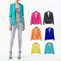 Za 2017 Spring Women Slim Cotton Blazer Long Sleeve Single Button OL Office Jacket Fashion Casual Plus Size Coat Blazer Feminino