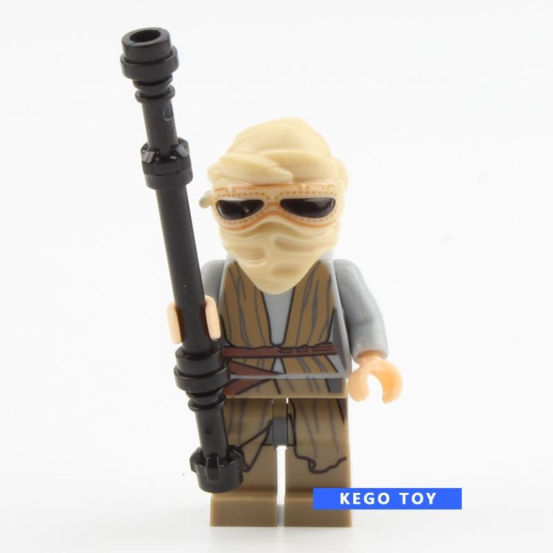Одной продажи Звездные войны minifigs r2d2 дарт вейдер лея боба фетт клон trooper kylo рен фигурки строительных блоков игрушки
