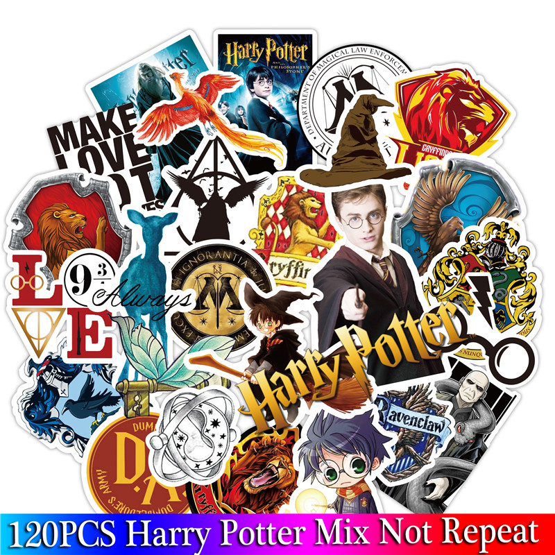 120PCS Pack Harry Classic Stickers Set Stickers For Kids Luggage Skateboard Laptop Cartoon Cartoon Anime Stickers For Children