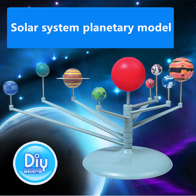 US $9 22 28% OFF Planetary Toys Kid's Educational Explore Nine Planets in  Solar System Planetarium Painting Science Fair Project Teaching Toys-in