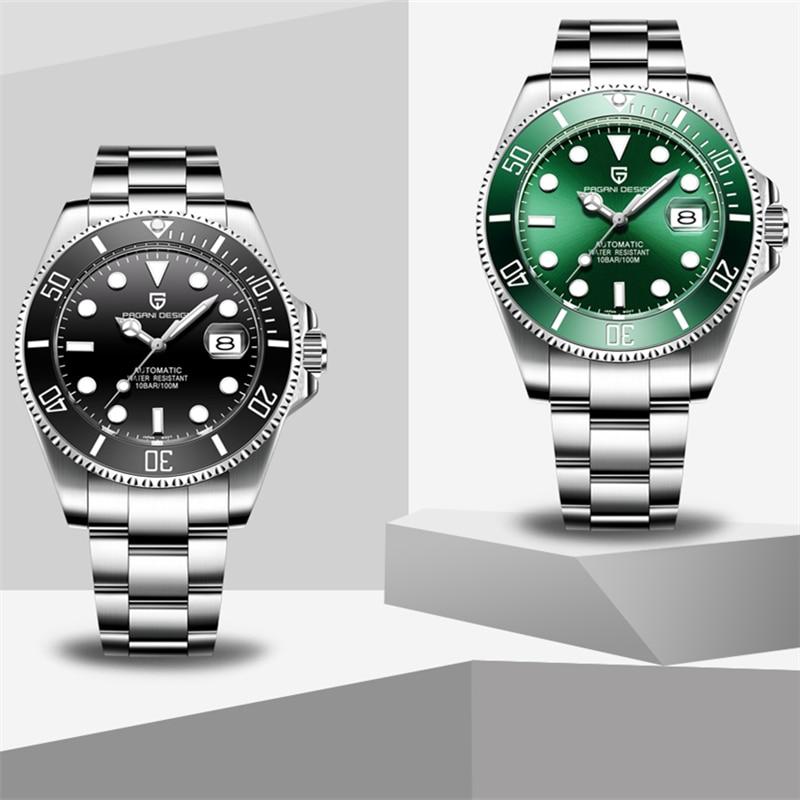 2019 Новые Фирменные Роскошные автоматические механические часы PAGANI, мужские водонепроницаемые деловые механические часы из нержавеющей стали - 5