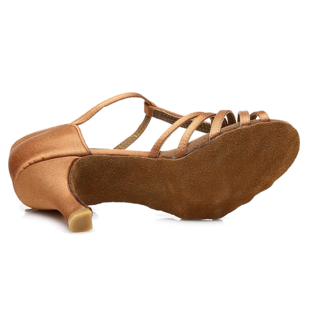 Latin dance shoes for women girl 39 s lady 39 s ballroom satin professional Salsa tango party dancing shoes High Quality 7cm 5cm in Dance shoes from Sports amp Entertainment