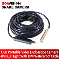 10M USB Cable Wire Tube USB Snake Camera Borescope Inspection Cam 4LED Webcam plumbers snake pipe inspection