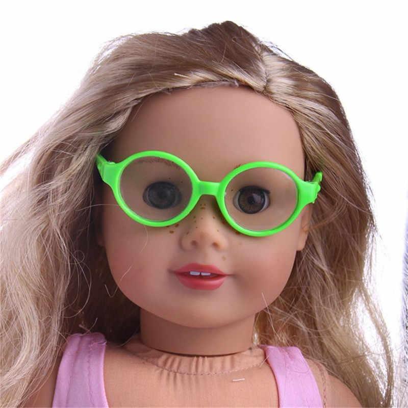 スタイリッシュなプラスチックフレームサングラスのための 18 インチ私たちの世代人形人形アクセサリーキッズ子供ベビーおもちゃ