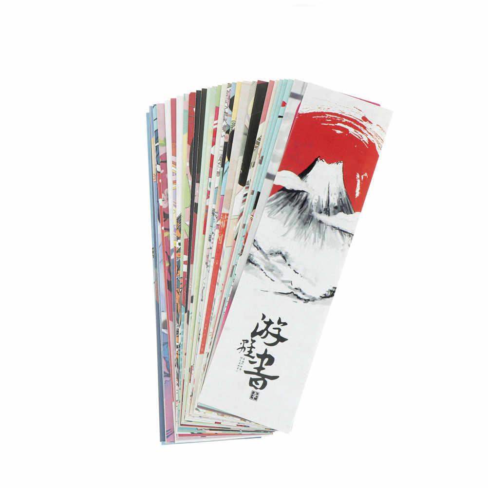 30 יח'\חבילה חמוד נייר סימנייה בציר יפני סגנון ספר סימני לילדים בית ספר תלמיד מצחיק מתנה כרטיס אביזרים