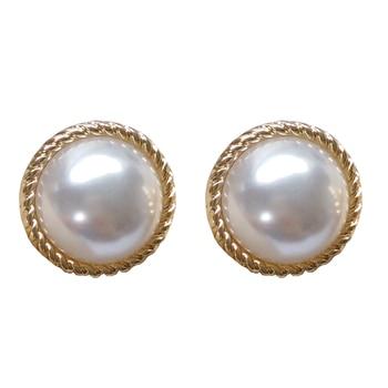 Stud earrings female metal round pearl women stud earrings elegant fashion minimalist pearl stud earrings earrings of women 5