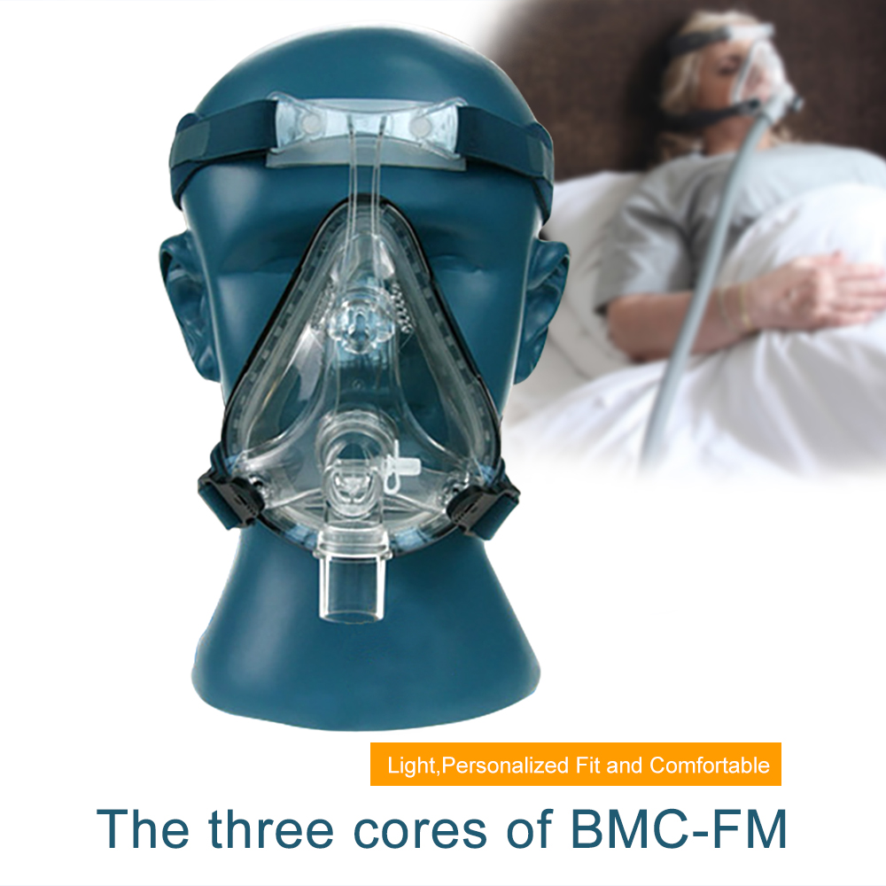 Full Face Mask CPAP Auto CPAP BiPAP Mask With Free Headgear White S M L for
