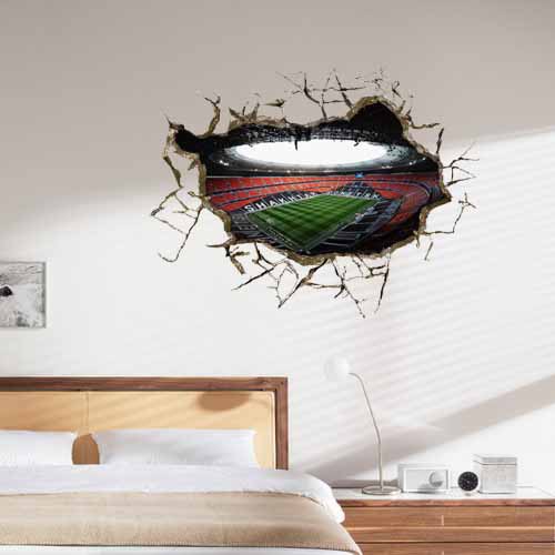 wall outside the football stadium 3d art wall decals/removable pvc