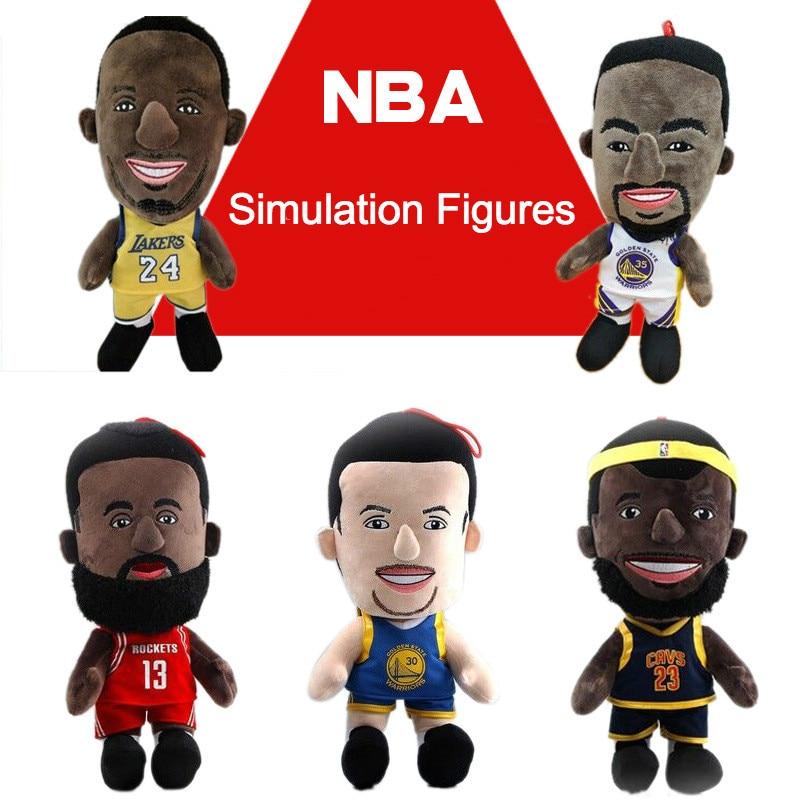 26cm Pp Cotton NBA Basketball Star James Kobe Cooper Durant Harper Plush Toy